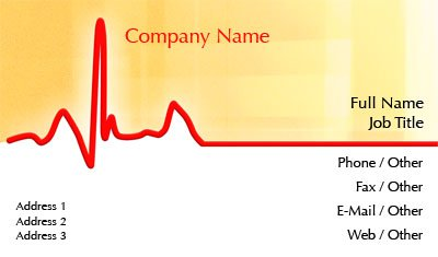 Red and Yellow Medical Business Card Template